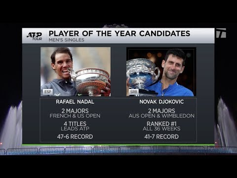 Tennis Channel Live: Rafael Nadal or Novak Djokovic 2019 ATP Player of the Year?