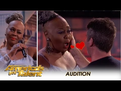 Simon Cowell Falls In LOVE With Ms. Trysh But Then... | Americas Got Talent 2018
