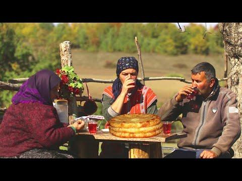 Pendirli Piroq və İtburnu Kompotu, ASMR food, Country Life Vlog