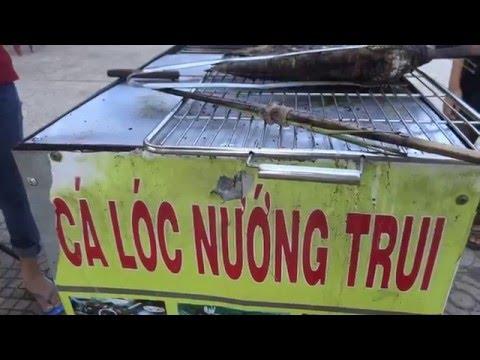 grilled snakehead fish with rice paper cá lóc nướng trui