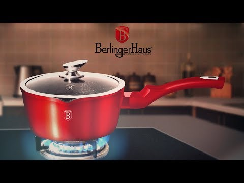 Berlinger Haus Metallic Line Burgundy Edition Sauce Pan With Lid Presentation [BH-1525N]