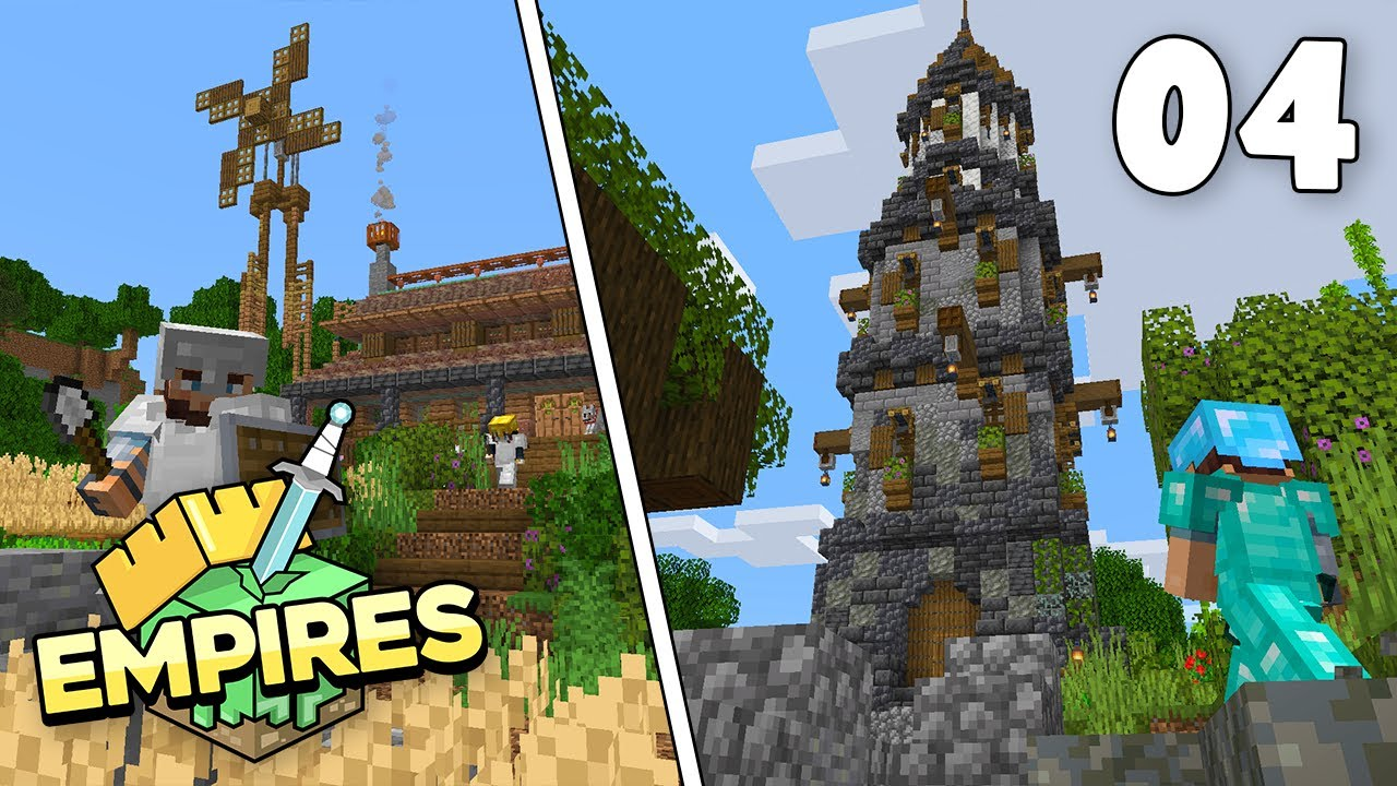 Empires SMP - Enchanting/Brewing Tower & Nether Adventure!!! - Ep.4 [Minecraft 1.17 Survival]