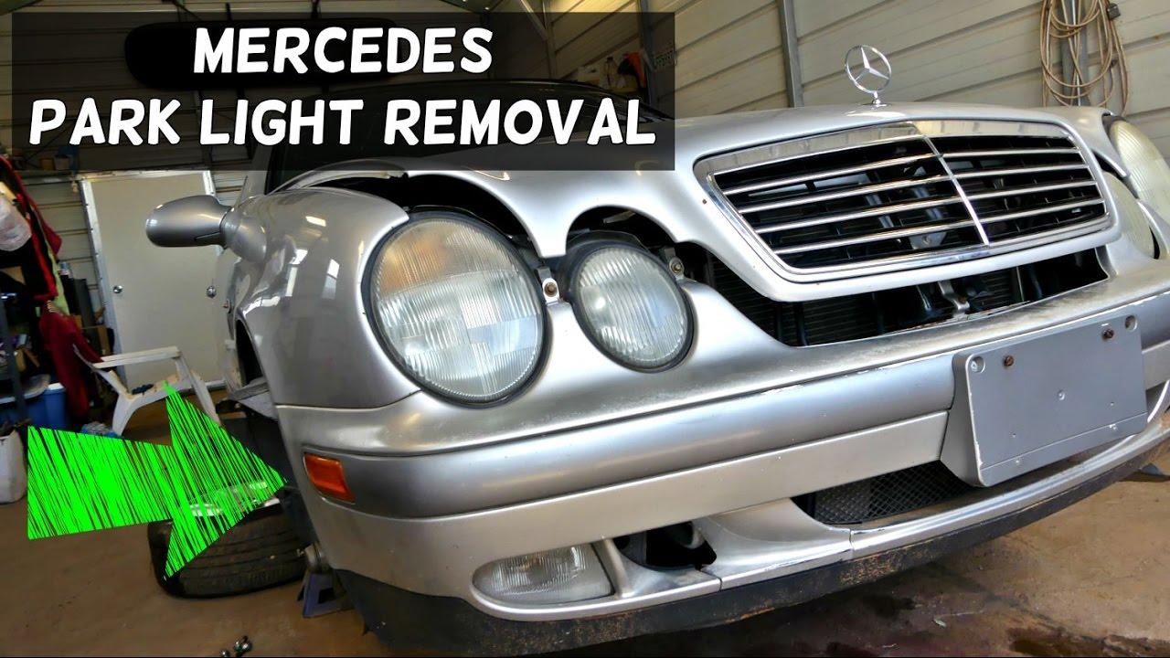 mercedes w208 w210 park light bulb removal replacement [ 1280 x 720 Pixel ]