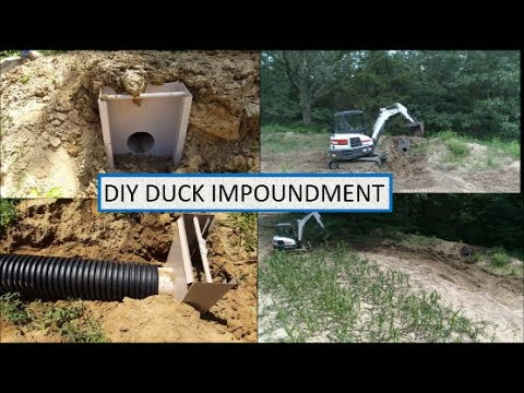 DIY Installing Duck Impoundment Water Control Structure! Phantom 4 Pro Drone Views to boot!