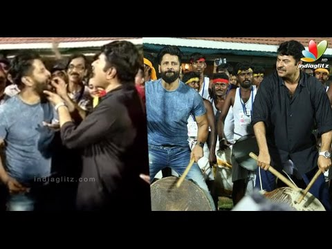Mammootty enlivens Chiyaan VIkram Birthday celebrations along with Kollywood celebrities