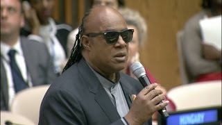 Stevie Wonder Congratulates UN Delegates on Entry into Force of Marrakesh Treaty thumbnail