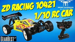 ZD RACING 10421 4WD THUNDER RC CAR REVIEW UNBOXING RUN TEST VOITURE RADIOCOMMANDÉE GEARBEST