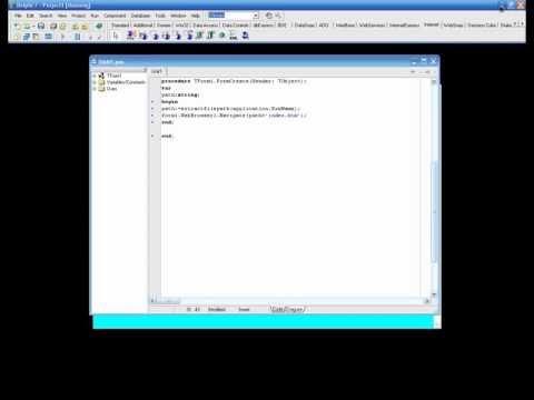 Создание электронного учебника в delphi  Создание электронного учебника в delphi
