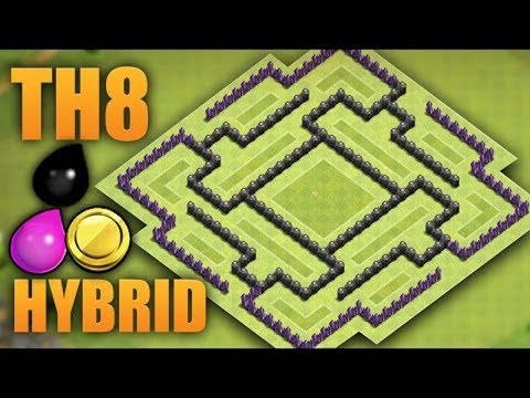 [Clash of Clan] Hướng dẫn xây nhà Town Hall 8 (TH8) – Protect Resource #2 6/2017