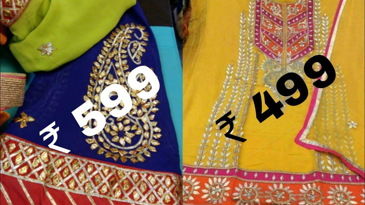 5aad9abea4 Buy gota Patti work Punjabi salwar suits/Gota kinari Punjabi suit design  ideas for Indian wedding