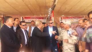 وزير الشباب ومحافظ الاسماعيلية واللواءكامل الوزير و1200فتاة فى قناة السويس الجديدة