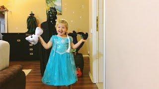 Kid Halloween costume Play Pretend Dress Up Elsa Frozen Olaf