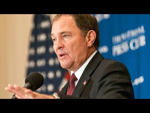 Utah Governor Gary R. Herbert speaks at The National Press Club