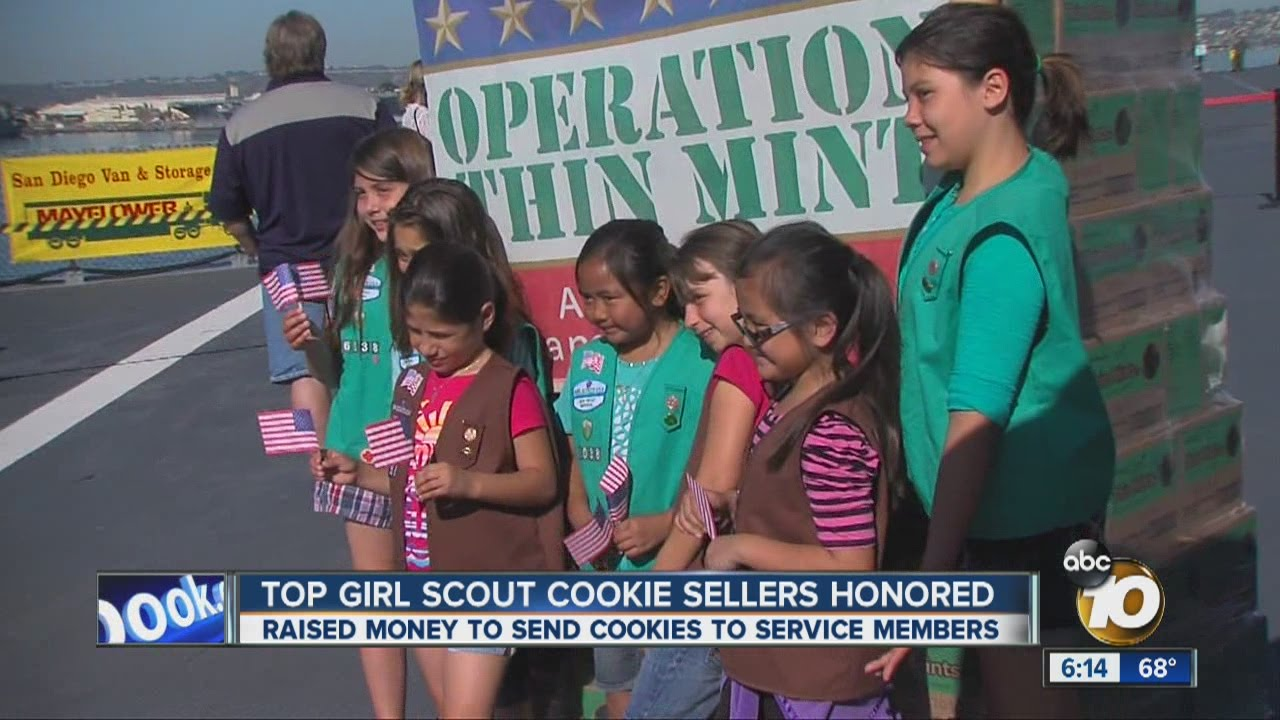top girl scout cookie sellers honored   youtube