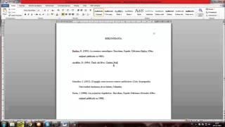 Bibliografía formato APA