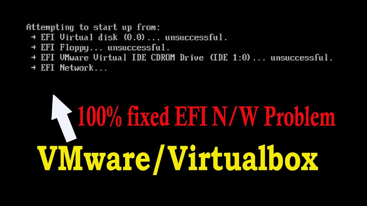 [Hindi] Unsuccessful - EFI Network Start PXE over IPv4 error in VMware   Fix EFI Problem  #Windows10