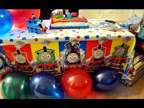 Jayce 2nd Birthday Thomas The Train Theme