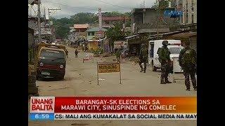 Barangay-SK elections sa Marawi City, sinuspinde ng Comelec
