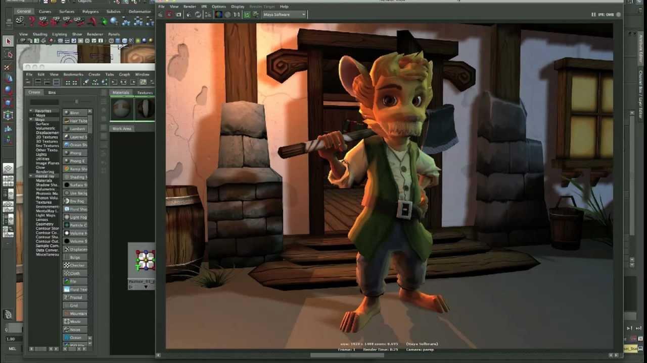 Realtime toon rendering in maya youtube.