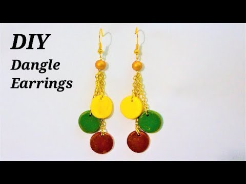 DIY - How To Make Awesome Dangle Earrings With Polymer Clay  | Jewelry Making Tutorial