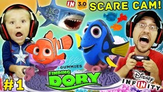 FINDING DORY Shark Scare Cam!  Disney Infinity 3.0 Movie Playset Part 1 w/ Gummies (FGTEEV Gameplay) thumbnail
