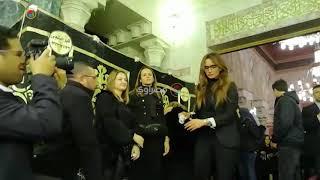 شوبير والثعلب وغادة عادل وزينة في عزاء والد الأعلامي عمرو الفقي