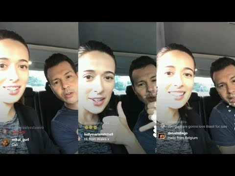 Marina Squerciati  Instagram Live Stream  August 11 2017  with Jon Seda
