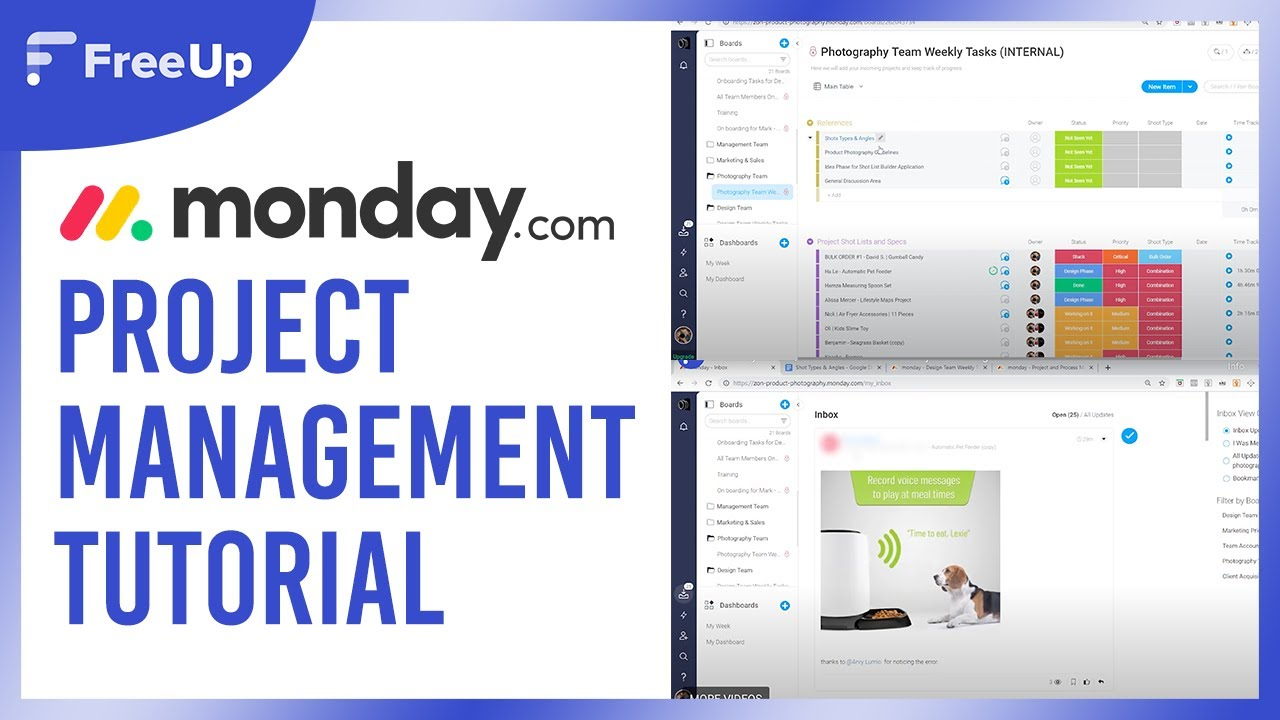 Monday Com Quick Demo Tutorial Project Management Software Youtube