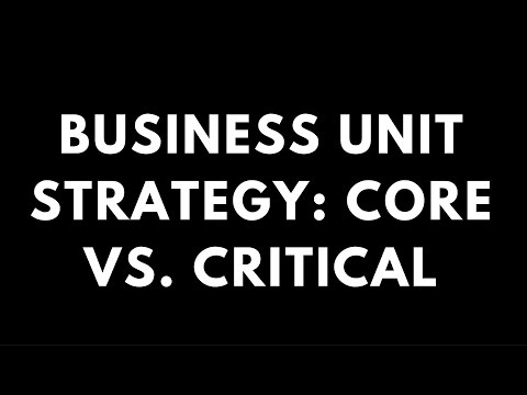 Business Unit Strategy: Core vs. Critical (Learning Strategy Skills)