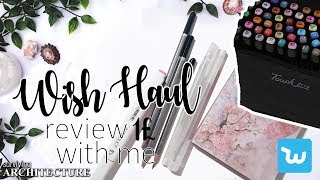 $1 WISH APP STATIONERY HAUL - Back to School Supplies