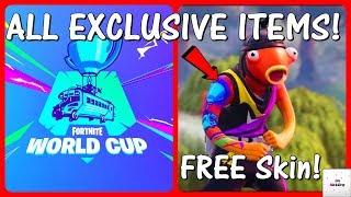* NOVO * todas as peles da Copa do mundo & ITEMS! (Free & Exclusive) | Fortnite
