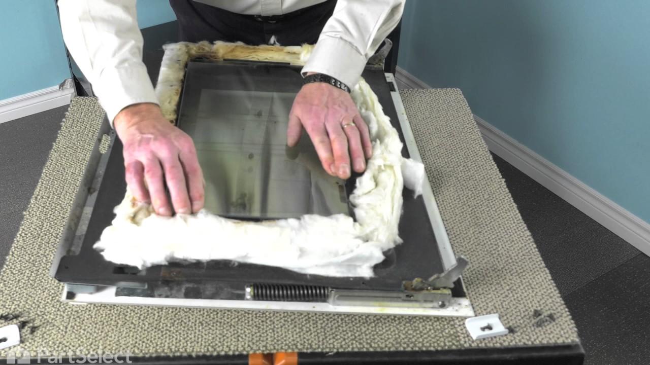 Range Stove Oven Repair Replacing The Inner Door Glass