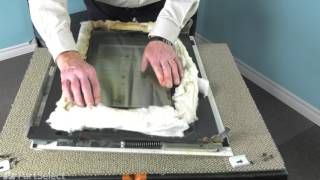 Range/Stove/Oven Repair - Replacing the Inner Door Glass  (Whirlpool Part # WP4449253)