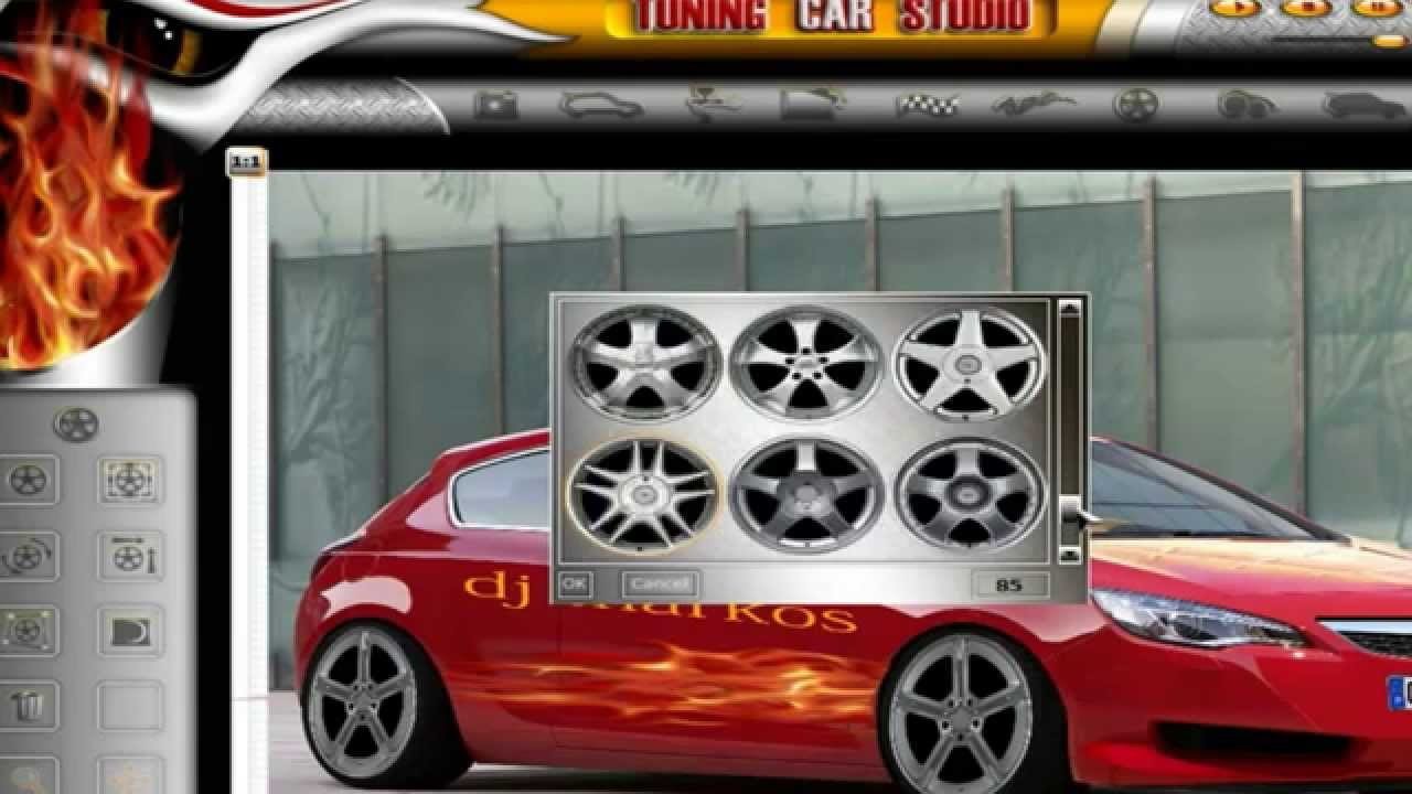 Tuning car studio car virtual tuning