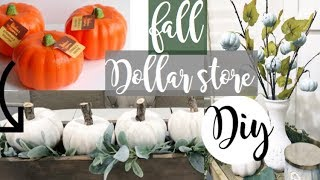 Dollar Store Farmhouse FALL DIY