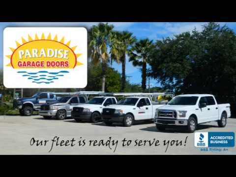Garage Door Openers Melbourne Fl Paradise Garage Doors Youtube