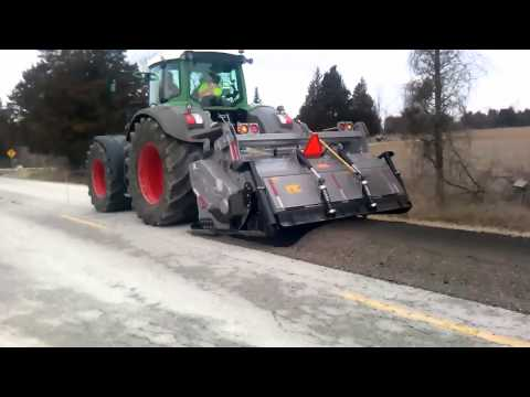 FAE Road Reclamation Attachment FENDT 936 with FAE MTH-250 Asphalt roads PART 2