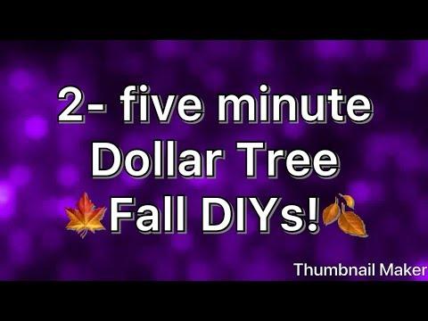 2- Five Minute Dollar Tree Fall DIYs!!