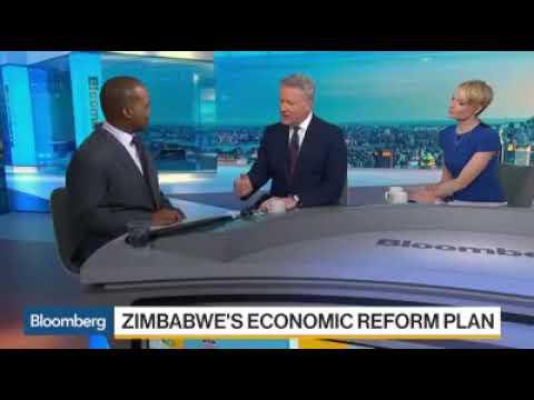 Zimbabwe reserve bank governor speaks to Bloomberg