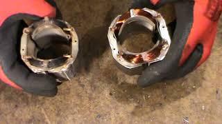 Перфоратор STERN RH 24A ремонт перфоратора, замена статора, замена подшипников, катушка сгорела, под