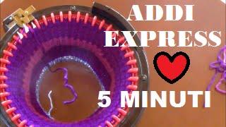 SCIARPE E COLLI in 10 MINUTI!!! maglieria magica,ADDI EXPRESS 46 AGHI,