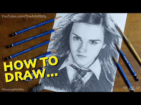 How To Draw Hermione Granger - Emma Watson In The Harry Potter Films