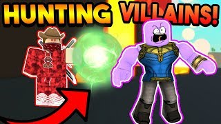 HUNTING DOWN SUPERVILLAINS IN POWER SIMULATOR! (ROBLOX)