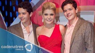 Itatí Cantoral se siente orgullosa de que sus hijos hayan debutado en televisión