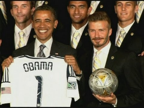 President Obama teases David Beckham over his underwear line after LA Galaxy win