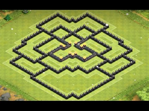 Clash of Clans - Insane New Town Hall 9 Farming Base!! (2015)