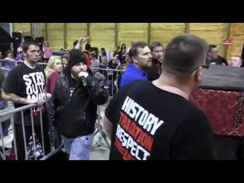 Nathaniel Adams interrupts Rob Kincaid @ NWA Aftershock