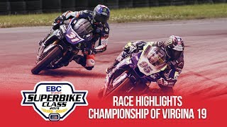 MotoAmerica EBC Brakes Superbike Championship of Virginia 19 Highlights