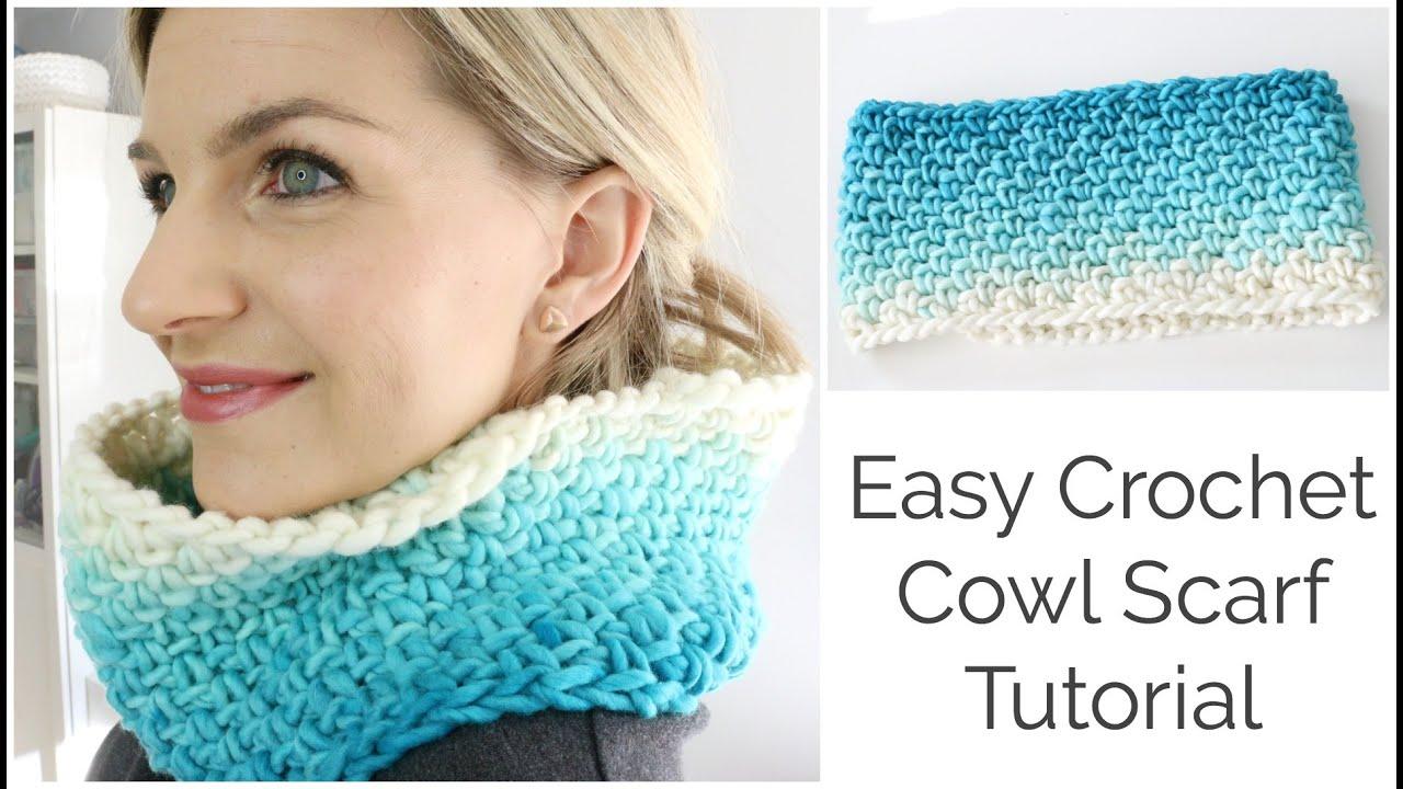 Easy Crochet Cowl Pattern Interesting Design