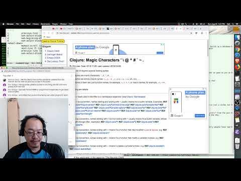Guile Scheme Lisp, Is Python A Lisp?, JetBrain Vs Emacs Editor, Why Clojure Java. 2019-08-25